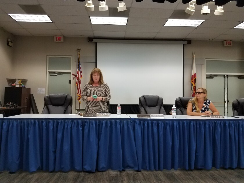 Dehesa School Board President Cindy White
