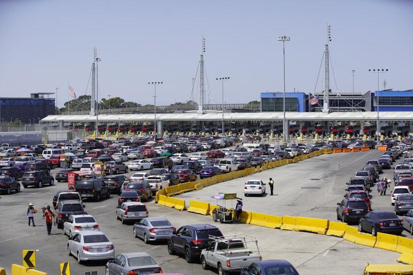 Traffic into San Ysidro from Tijuana has dropped at San Ysidro Border Crossing
