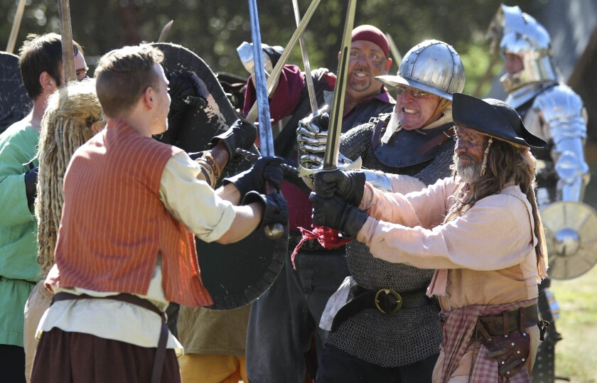Watch mock battles, look for the queen, and listen to stories during the annual Escondido Renaissance Faire in Felicita Park this weekend and May 4 and 5.