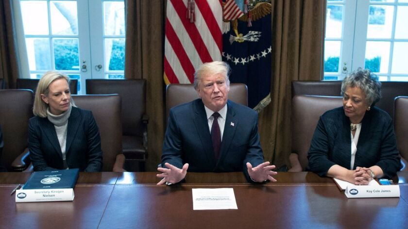 President Trump, meeting with administration and conservative leaders in the White House, showed again how little he understands about U.S. immigration law.