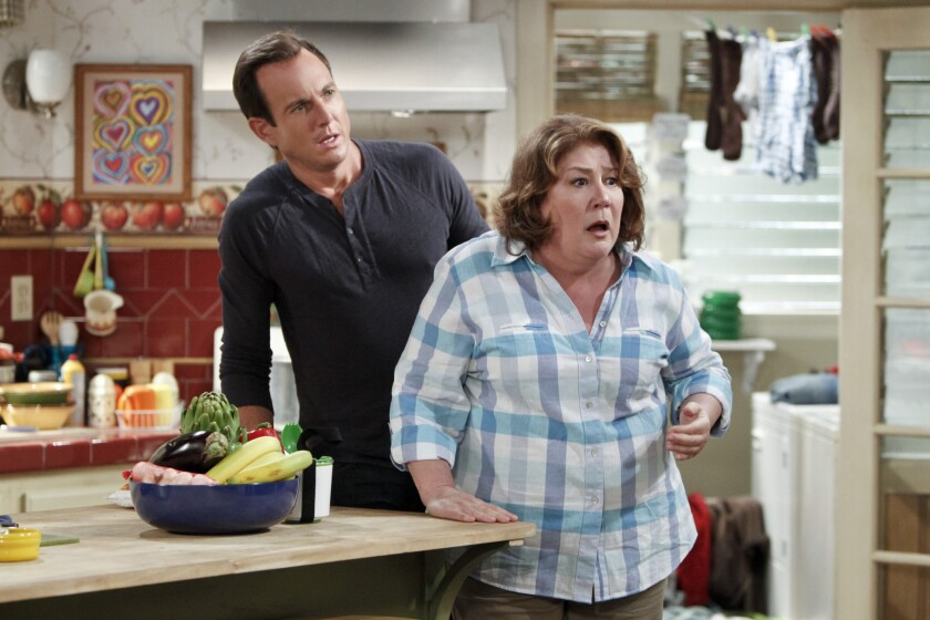 """Will Arnett and Margo Martindale in """"The Millers."""""""