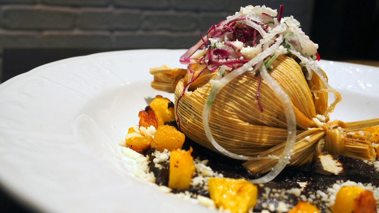 Duck confit mole tamale from Sausal.