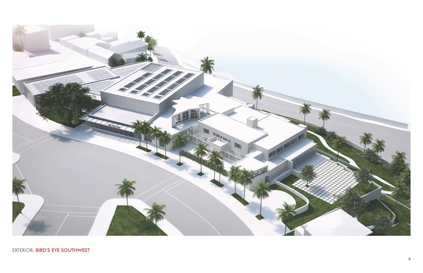 A rendering of the expanded Museum of Contemporary Art San Diego at 700 Prospect St.
