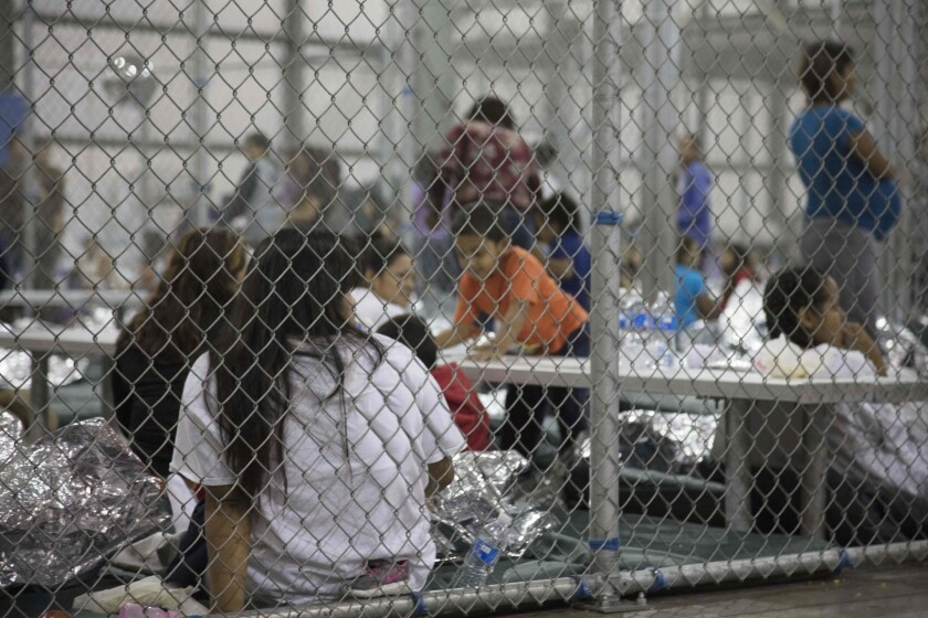 Immigrant families in cages in Texas