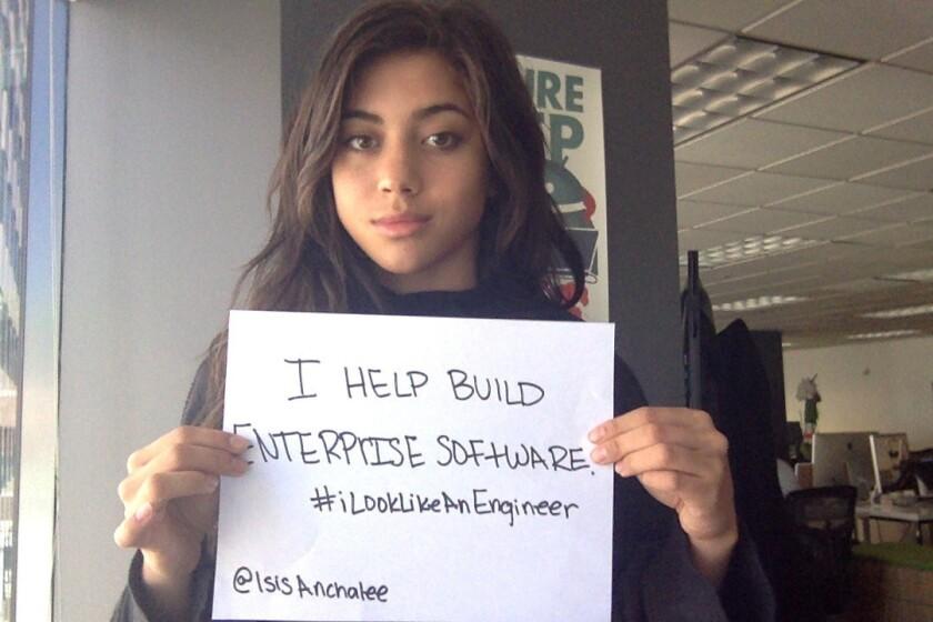 Engineer Isis Anchalee kicked off the #ilooklikeanengineer hashtag on Twitter.