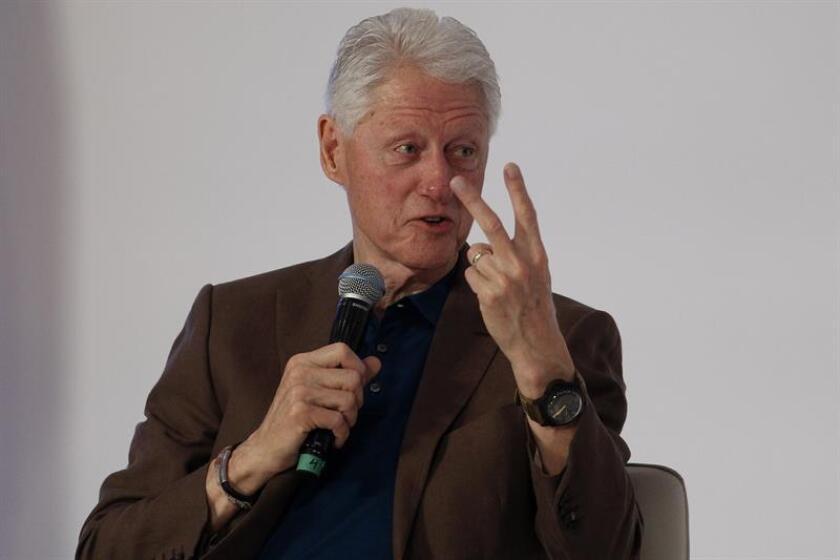 El expresidente de Estados Unidos Bill Clinton, durante una conferencia de prensa. EFE/Archivo