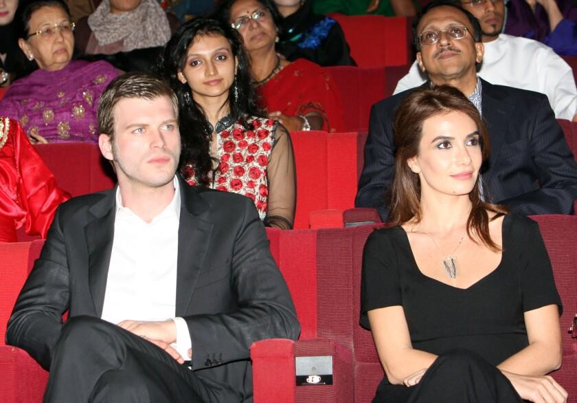 "Actors of the popular Turkish soap opera ""Gumus."""