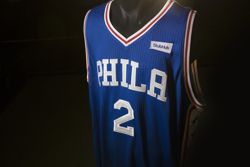 info for 8289d 8b922 Philadelphia 76ers become first NBA team to sell jersey ...
