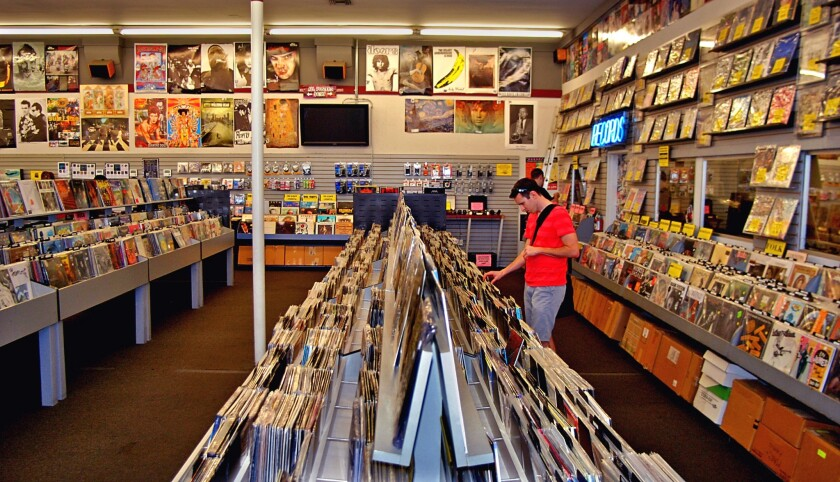 For vinyl fans and lovers of all types of music, Rhino Records in Claremont Village is the place to go to buy and browse.