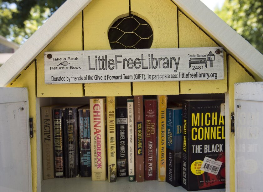 A Little Free Library in Sacramento.