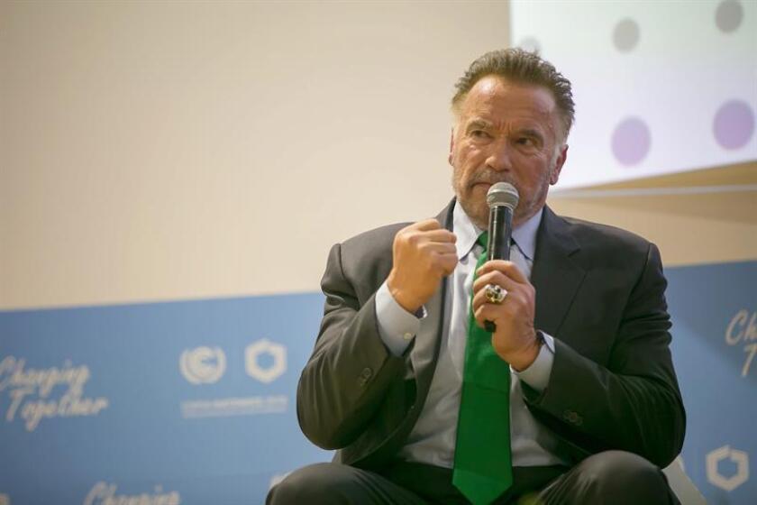 El actor y ex gobernador de California Arnold Schwarzenegger participa en la Cumbre del Clima (COP24) en Katowice (Polonia), el 3 de diciembre de 2018. EFE/Archivo