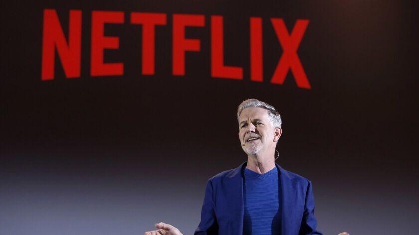 Netflix CEO Reed Hastings speaks in Rome.