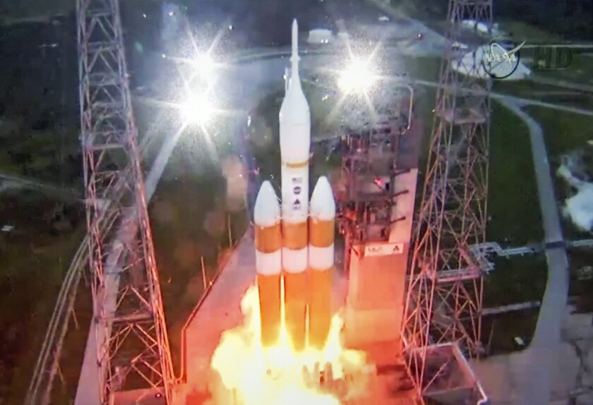 Orion's launch on NASA TV
