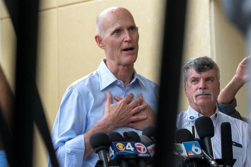 El gobernador de Florida, Rick Scott, planea un recorte de impuestos por un importe total de 618 millones de dólares en el año 2018, una propuesta que presentará al Congreso del estado en los próximos meses, informaron hoy medios locales. EFE/ARCHIVO