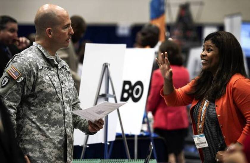 Unemployment among recent veterans drops sharply