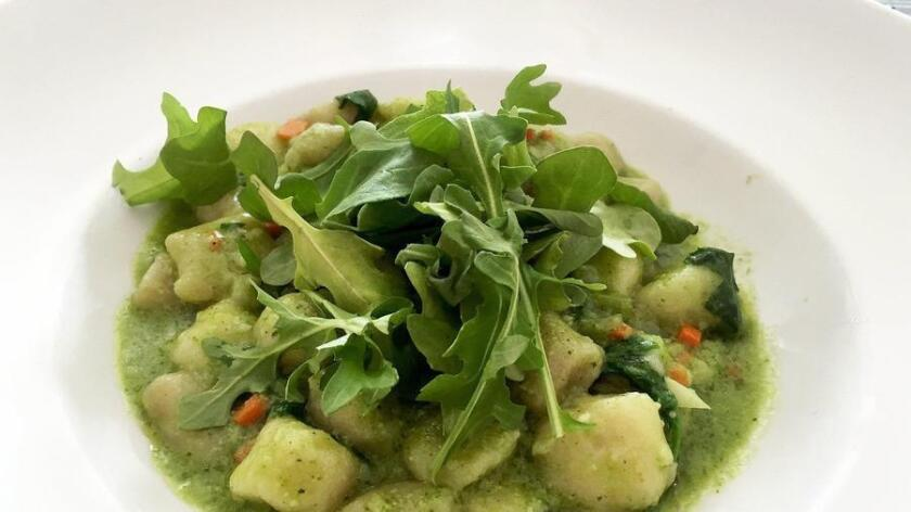 Gnocchi alla Crudaoila is on the new vegan menu at Civico 1845. Courtesy photo (Courtesy photo)