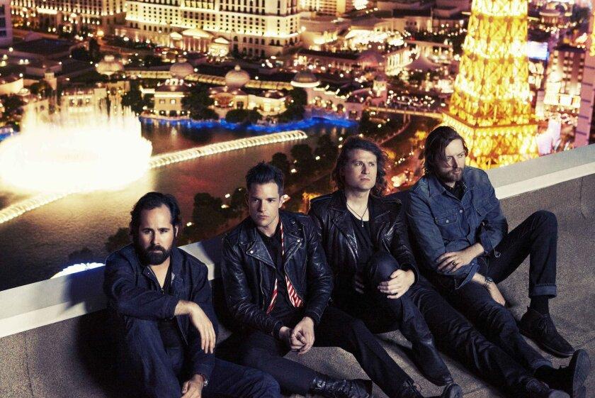 The Killers, from left: Ronnie Vannucci Jr., Brandon Flowers, Dave Keuning and Mark Stoermer. Williams + Hirakawa