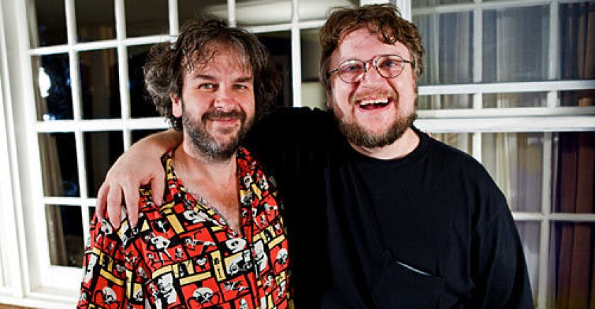 """STILL BUDDIES: Guillermo del Toro will take on the future """"Hobbit' prequels, while Peter Jackson is still basking in the success of the """"Lord of the Rings"""" trilogy. Jackson and New Line handpicked Del Toro."""