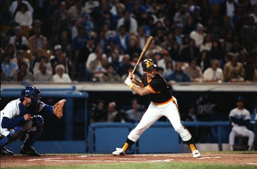 After 14 seasons with the Dodgers, Steve Garvey faced his old team for the first time as a Padre in April 1983.
