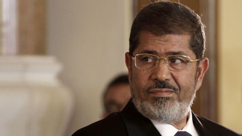 Former Egyptian President Mohamed Morsi in 2012.
