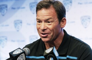 UCLA's Jim Mora answers questions about Tom Bradley at Pac-12 media days