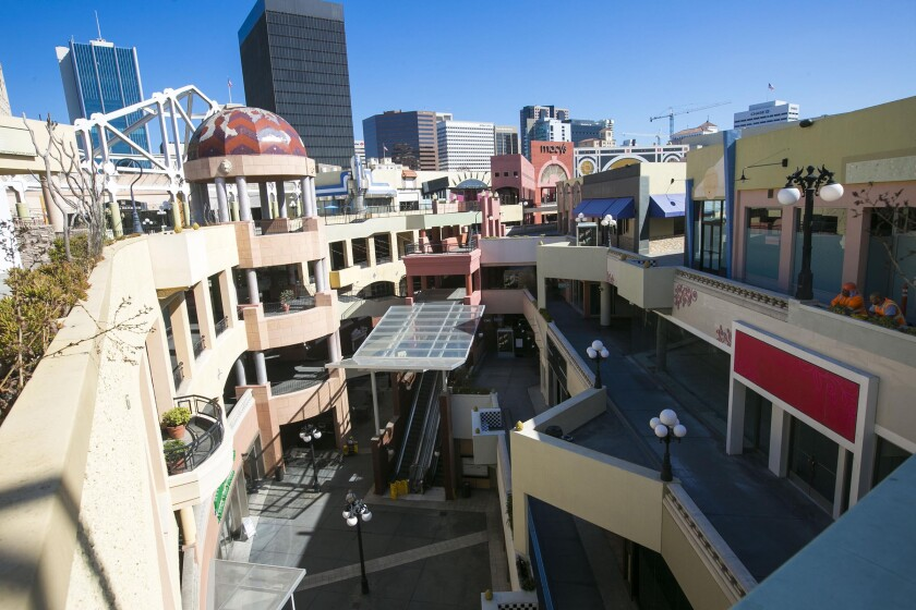 Horton Plaza is in the process of being converted to a mixed-use campus office geared for tech workers.