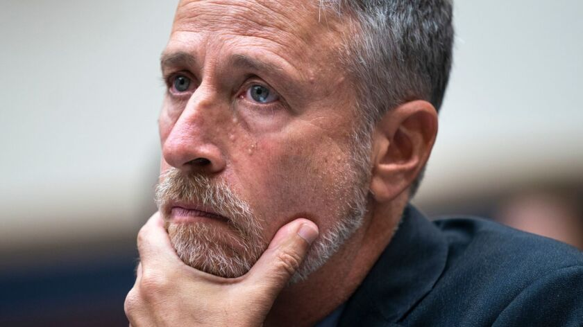 Jon Stewart testifies on behalf of 9/11 victim compensation fund, Washington, USA - 11 Jun 2019