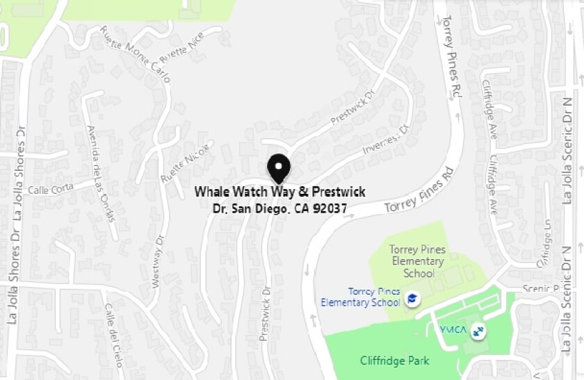A driver suffered a fractured neck in a two-vehicle crash Oct. 16 at Whale Watch Way and Prestwick Drive in La Jolla.