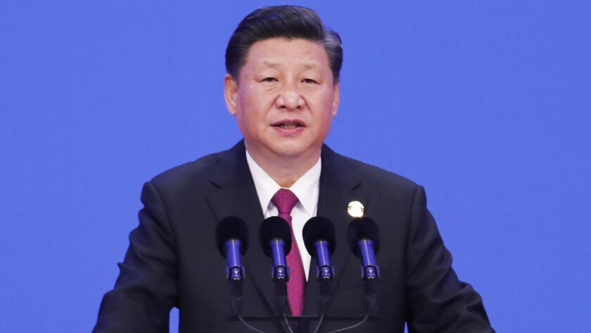 China's President Xi Jinping delivers a speech during the opening of the Boao Forum for Asia in Beijing on April 10.