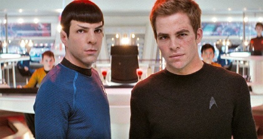 "Zachary Quinto (left) and Chris Pine head the cast of the new ""Star Trek."" (Paramount Pictures)"