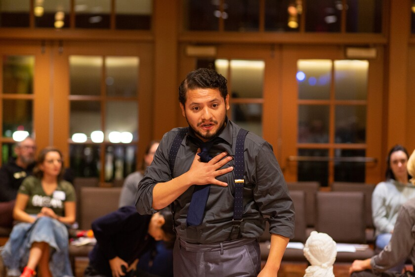 """Carlos Angel-Barajas in the Globe for All tour of Shakespeare's """"The Winter's Tale."""""""