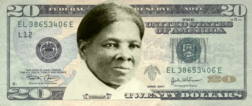 Concept art of Harriet Tubman on the $20 bill.