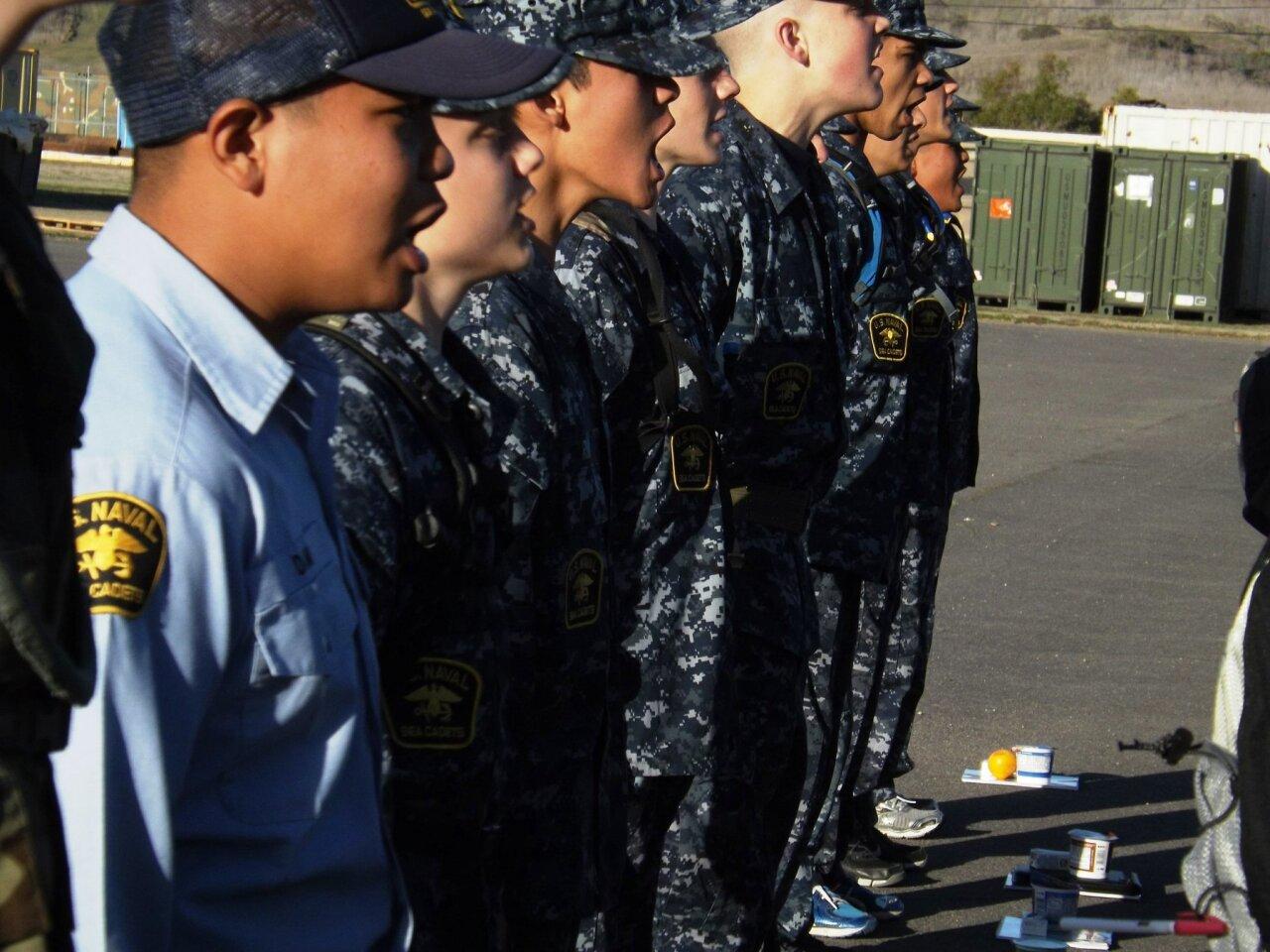 Naval Sea Cadets train at  Pendleton