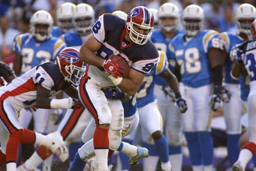 Ryan Neufeld, tight end for the Buffalo Bills, in 2005. In 2011, the Social Security Administration declared the former NFL tight end 100% disabled.