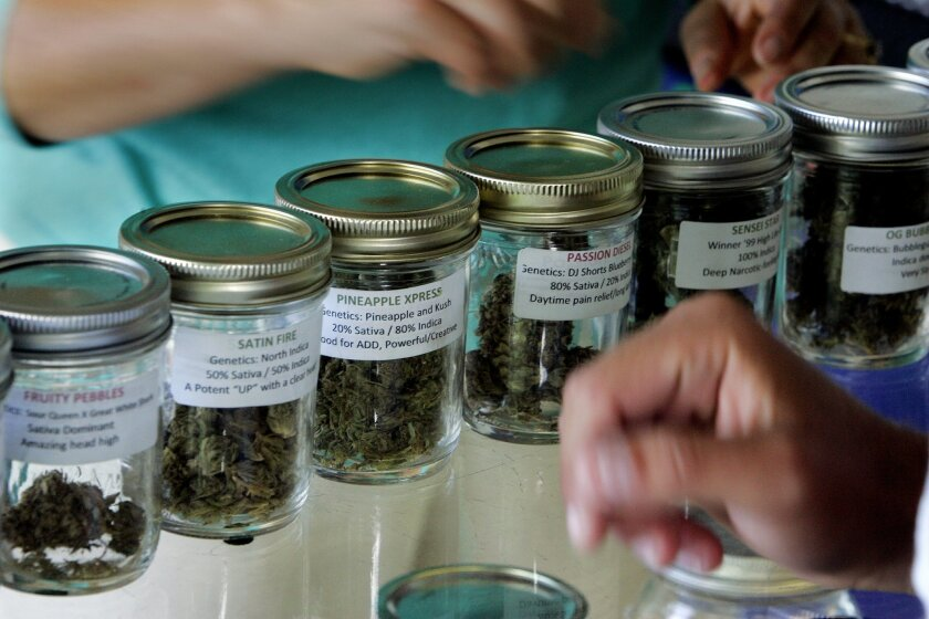 Marijuana being sold in a San Diego dispensary.