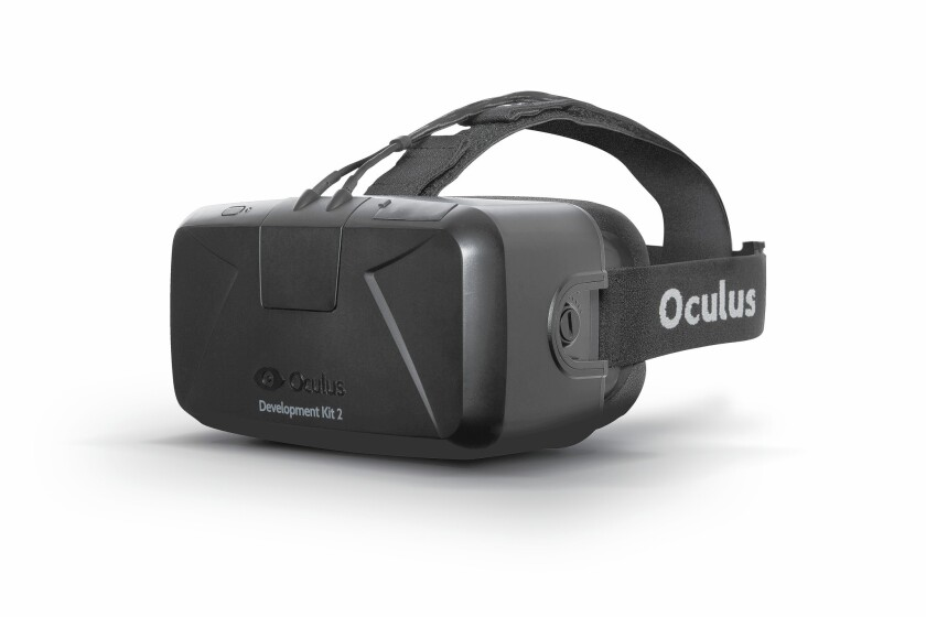 A Rift headset from virtual-reality company Oculus.