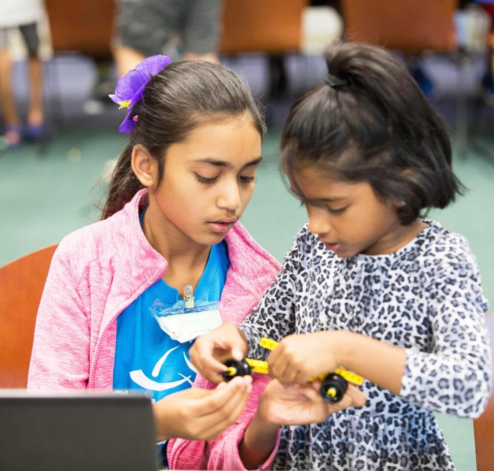 Lego robotics at Rancho Bernardo Library - 9/1/2018