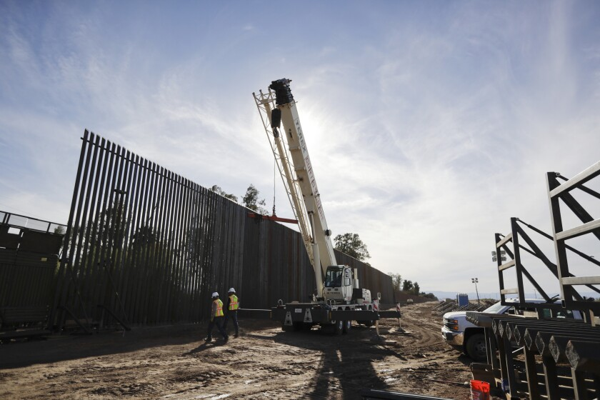 Border fence construction