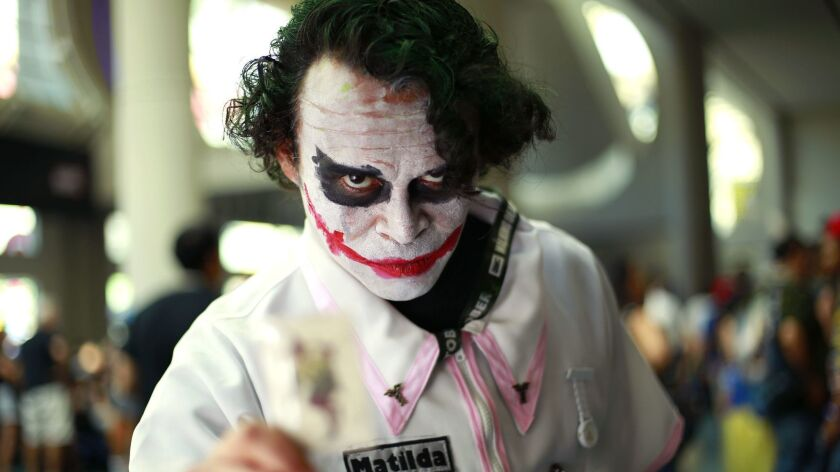 Luis Galvez of Mexico City is dressed as the Joker for this year's Comic-Con in San Diego .