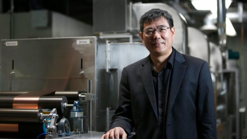Jiang Fan, co-founder of American Lithium Energy in Carlsbad, has spun off a new company called Amionx, to commercialize technology that prevents fires in lithium ion batteries.
