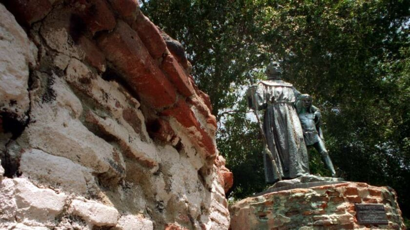 St. Junipero Serra statue vandalized in Mission Hills