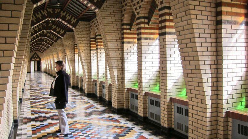 The main hallway into the Saint-Benoit-du-Lac abbey.