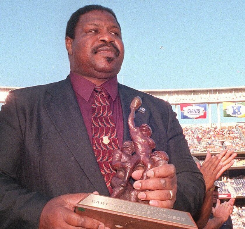"Gary ""Big Hands"" Johnson was inducted into the Chargers Hall of Fame in 1999."