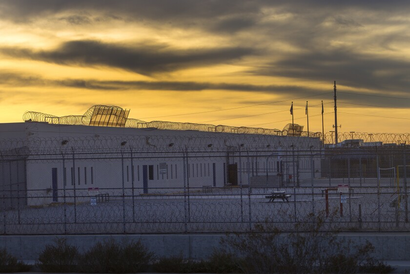 Inmates at the immigrant detention center in Adelanto, Calif., have launched a hunger strike to protest conditions there.