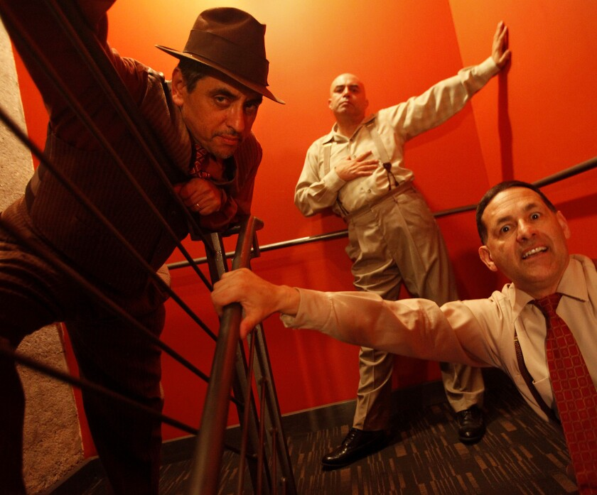Richard Montoya, left, Herbert Siguenza and Ric Salinas are marking Culture Clash's 30th year.