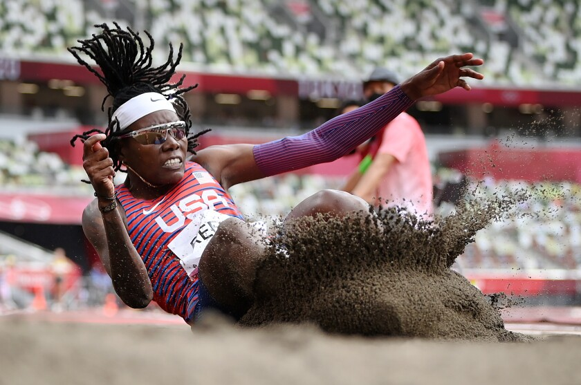 Chula Vista resident Brittney Reese won the silver medal in the Olympic women's long jump, missing gold by three centimeters.