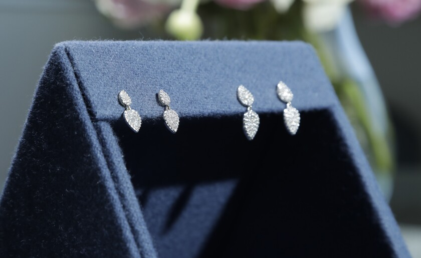 SHERMAN OAKS, CA -- APRIL 10, 2019: These earrings are an expansion of the Meghan Markle Teardrop co