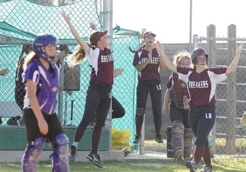 Softball: Breakers make history