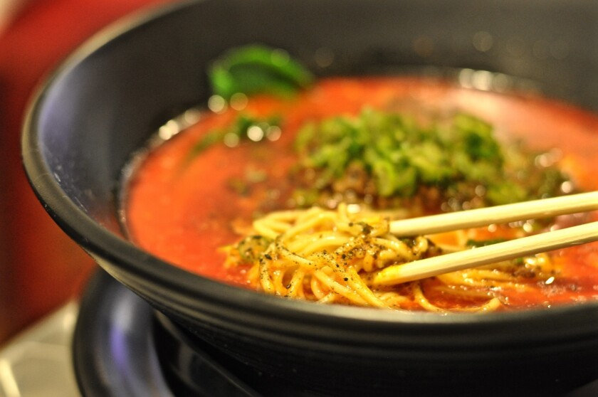 The best ramen in the house is probably the tantanmen, the specialty of the Nagoya ramen parlor Anzutei, for which the Los Angeles restaurant is named.