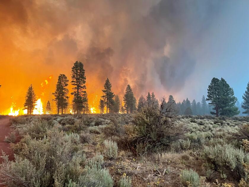 The Bootleg fire burns in southern Oregon.